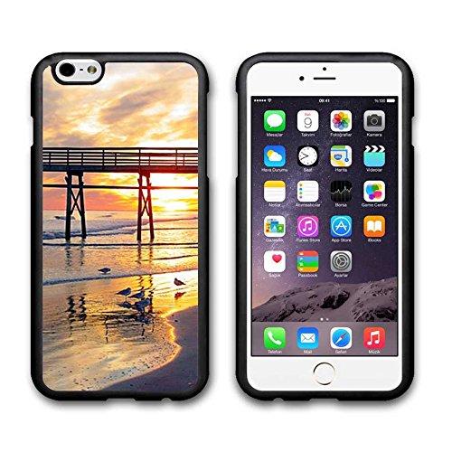 Iphone 6 Plus for 5.5 Inch Custodia /Custodia /Case Cover , Sunset Beach Character for Iphone 6 Plus Hard Plastic Protective Custodia /Custodia /Case Cover Cover etudsi-10