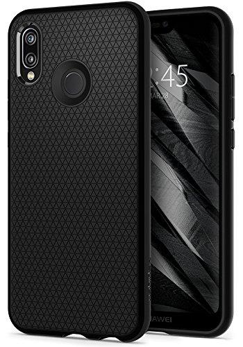 Cover Huawei P20 Lite, Spigen [Liquid Air] Impressionante Nero [Design Meccanica Durevole] Massima Protezione Da Cadute e Urti, Custodia Cover P20 Lite