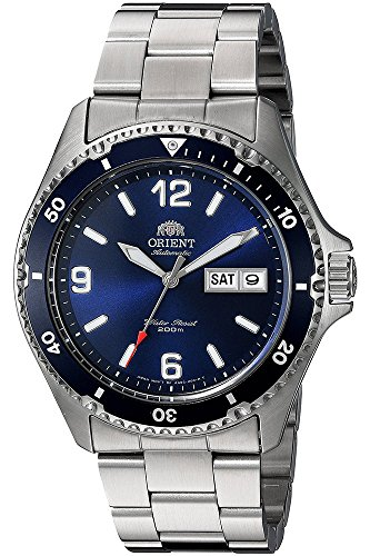 Orient Unisex Erwachsene Analog Automatik Uhr mit Edelstahl Armband FAA02002D3