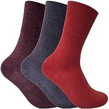 3 pares mujer invernio calientes finos calcetines diabeticos sin elastico para la circulacion