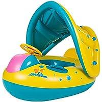 Hung Kai Anillo de natación inflable con parasol ajustable para niños de 12 a 36 meses