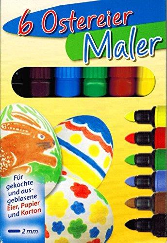 Ostereier Maler / Stifte OSTERN (6 Farben)
