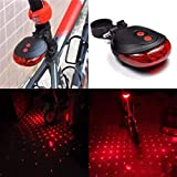 #1: LUKZER Bicycle Tail Led Laser Lights (Random Colour) / LED Flashing Lamp Tail Light Rear Cycling Bicycle Bike Safety Warning