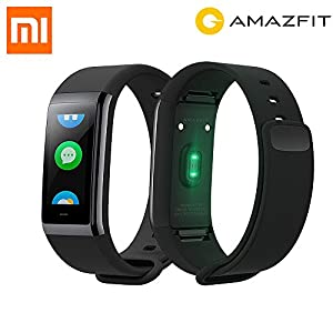 huami amazfit cor a1702inteligente Fitness Tracker, frecuencia cardíaca, 1.23pulgadas pantalla, IP 68, Negro