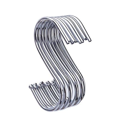 Preisvergleich Produktbild 12 Stück S förmige Haken Aufhänger Clips Anschluss Karabinerhaken für Küche, Schlafzimmer und Büro (Mittel)