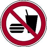 Schild Essen und Trinken verboten DIN EN ISO 7010-P022 - 200x0.45 mm Aluminium geprägt