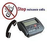 Telpal fisso Call Blocker per telefono fisso con display chiamante, Dual segnale FSK/DTMF, 1500number Capacity-Blocco nascosto numeri, Telemarketer Moleste, chiamate immagine