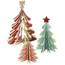 Sizzix Fustelle Alberi di Natale 3D modelli assortiti