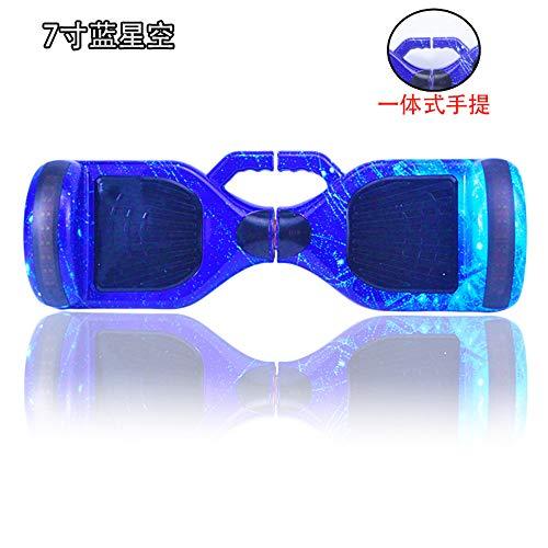 6,5 Zoll Hoverboard,Mit Geblitztem Rad Smart Self Balancing Hoverboard Mit Bluetooth-Lautsprecher Und LED-Leuchten Elektroroller, Für Kinder Und Erwachsene,A6