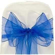 EDS - 25fajas, lazos para silla de organza para decorar bodas, banquetes, en más de 30colores