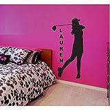 Adesivi murali da parete per donna, articoli da regalo, da golf per ragazze, 56X103Cm