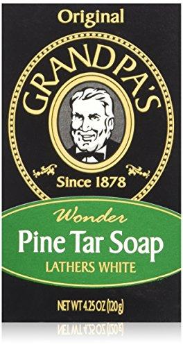 Grandpa's Soap Pine Tar 4.25 oz (Pack of 4) by Grandpa's -