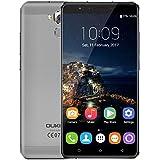 ((Neu freigegeben)) OUKITEL U16 MAX - 6 Zoll Bildschirm Android 7.0 Smartphone MTK6753 Octa Core 3G RAM 32G ROM 5MP + 13MP Kamera 4000mAh Batterie Metall Körper Fingerabdruck - Grau