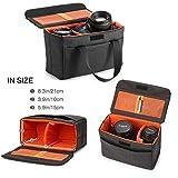 LXH Kameraeinsatz Bag Aufbewahrungstasche Halter Handtasche Kamera Innenhülle Tasche mit wasserdichten und stoßfest weiche Polsterung für alle SLR / DSLR & Objektiv (schwarz)
