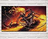 PWERWOTAM Knight Comics Fire Chain Chain Cadeau De Moto Vélo Sake Salon Maison Mur Art Décoration Affiche 50X85Cm sans Cadre