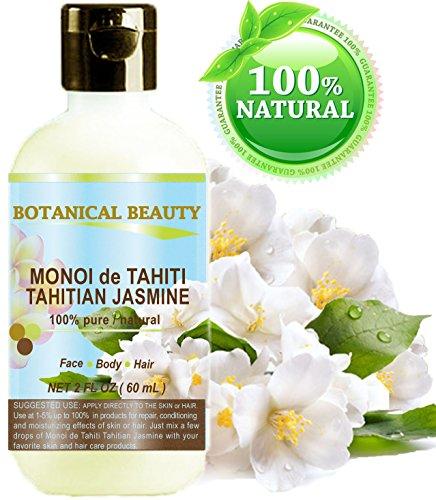 Monoï de Tahiti tahitian Huile de Jasmin 100% naturelle / 100% pures plantes - 60 ml. Pour la peau, des cheveux et des ongles.