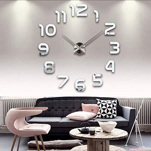 DIY Wanduhr Moderne Clock 3D Acryl Spiegel Metall Rahmenlose Wandaufkleber groß Uhren Style Raum Home Dekorationen Tolles Geschenk