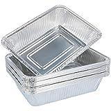 com-four® 15 Grillschalen aus Aluminium, Einweg-Schalen zum Grillen, Kochen oder als Tropfschale für Grills (15 Stück)