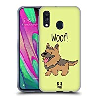 Head Case Designs German Shepherd Happy Puppies Soft Gel Case Compatible for Samsung Galaxy A40 (2019)