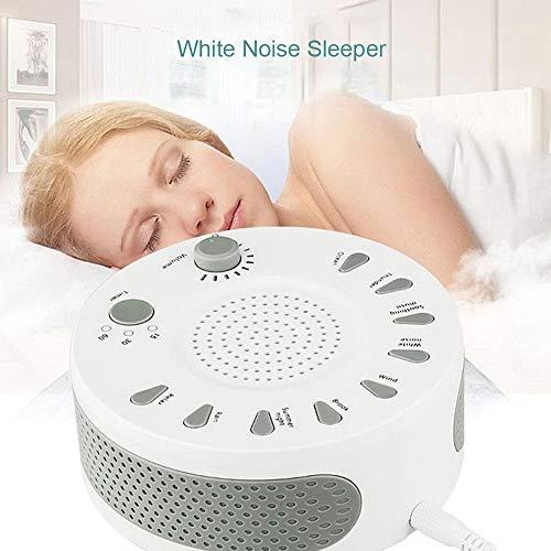 LSY Il Sonno White Noise Machine, 9 lenitivo Suoni Naturali della Macchina di Terapia Aid Dormire con opzioni del Timer e del Volume Regolabile per Baby Bambini Adulti