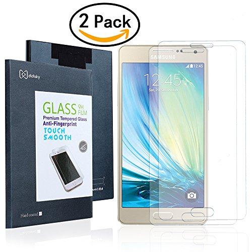 2X Samsung Galaxy A5 (2015)Pellicola Protettiva,Didisky® Pellicola Protettiva in Vetro Temperato Per Samsung Galaxy A5 [Tocco Morbido ] Facile da Pulire, Facile da installare, Garanzia a Vita