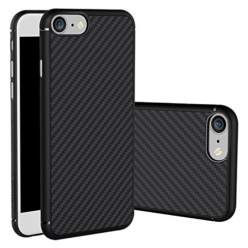Nillkin Synthetic Carbon Fiber Texture Hard Back Case Cover for Apple Iphone 7 - Black