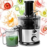 Duronic Juicer JE7C | Centrifugal Juice Extractor | 2 Speed Settings | 800W | StainlessSteel | Wide Mouth | for Whole Fruit and Vegetables | Homemade Freshly Squeezed Juice | BPAFree | with 1L Jug