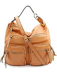 BOVARI sac bandoulière / sac porté épaule Reporter Bag (36x34x16 cm) - super soft limited edition - couleur: whiskey