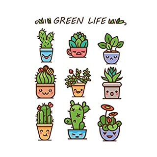 CDELEC 1PC Kids Potted Green Stairs stickers Plant Decal plants Potted Skirting Decorative Staircase Stairs Corridor Floor Window Kitchen Beautify Wall Stickers