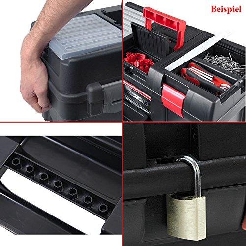 Kunststoff Werkzeugkoffer STUFF Semi Profi Alu 20″, 52,5×25,5cm Kasten Werzeugkiste Sortimentskasten Werkzeugkasten Anglerkoffer - 2