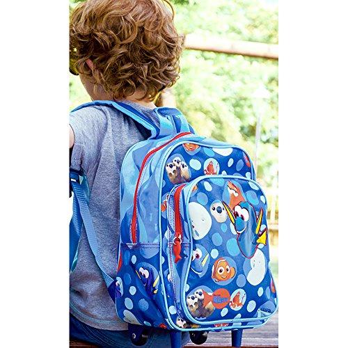 *Le monde de Dory Disney – Nemo – Sac à dos/valise enfant avec roues et bandoulières pour maternelle et école primaire – Bleu – 31 x 23,5 x 13 cm Vente