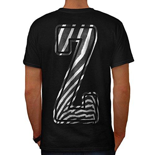Kostüme Safari Prinzessin (Brief Z Zebra Mode Safari Herren M T-shirt Zurück |)