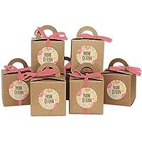 Papierdrachen Cajitas de conejitos de Pascua DIY - Cajitas de regalo de papel Kraft para rellenar - Para niños y adultos