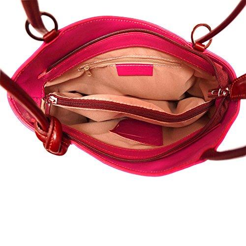 Convertible Rucksack und Schultertasche 207 Pink-Braun