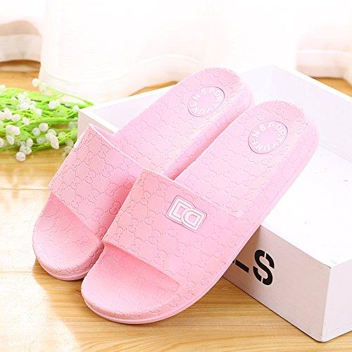 amanti delle pantofole a casa le pantofole, antiskid estate plastica spessa base,41 mei hong 37 Rosa