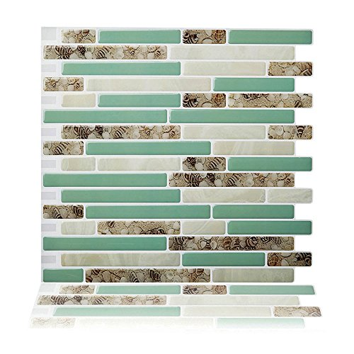 Cocotik schälen und Stick Fliesenspiegel, selbstklebendes Wand Fliesen Für Küche und Bad, 10Stück 10.5