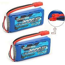 HOBBYTIGER 2 PCS 7.4V 2000mAh 25C la batería lipo para SYMA X8C Venture X8W X8G X8HW X8HC RC Quadcopter adaptador de ronda