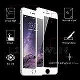 DBPOWER Protezione display in vetro temperato 3D per Iphone 6 Plus 6s Plus,3D Adattamento alle curvature, bordo in acciaio antimacchia,0,15MM,9H, azzeramento HD-Bianco