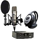Rode NT1-A Kondensator-Mikrofon + AI-1 Audio-Interface + KEEPDRUM Kopfhörer