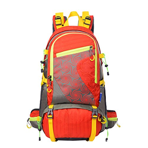 Xin.S45L Escursionismo Esterno Campeggio Impermeabile Viaggio In Nylon Zaino Da Viaggio Moda Borsa Da Montagna All'aperto. Multicolore Red
