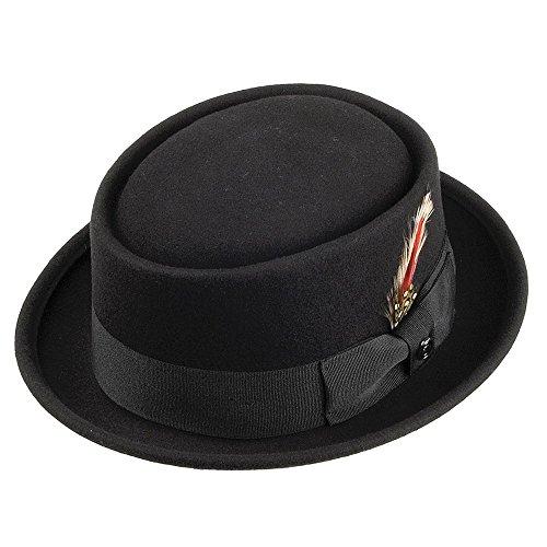 Jaxon & James Jaxon Pork Pie Hat, Chapeau de Cowboy Homme, Noir, (Taille Fabricant: X-Large)