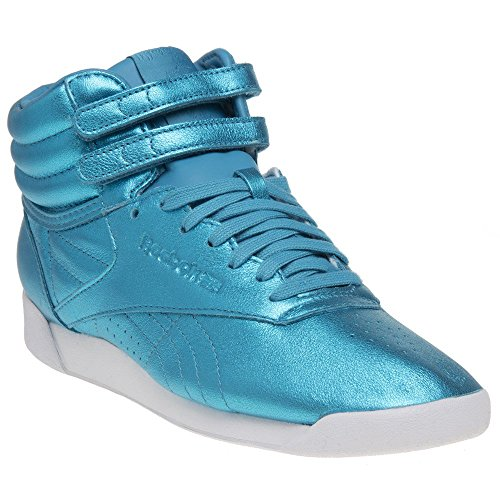 Reebok Freestyle Hi Metallic Mujer Zapatillas Azul