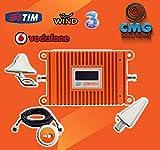CMG SOLUTIONS Verstärktes Verstärker-Set, GSM, UMTS Antenna Tim Wind VODAFONE TRE