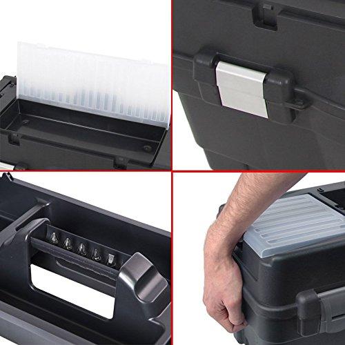 Kunststoff Werkzeugkoffer Formula RS ALU 700 Soft, 59,5x29cm Kasten Werzeugkiste Sortimentskasten Werkzeugkasten Anglerkoffer - 3