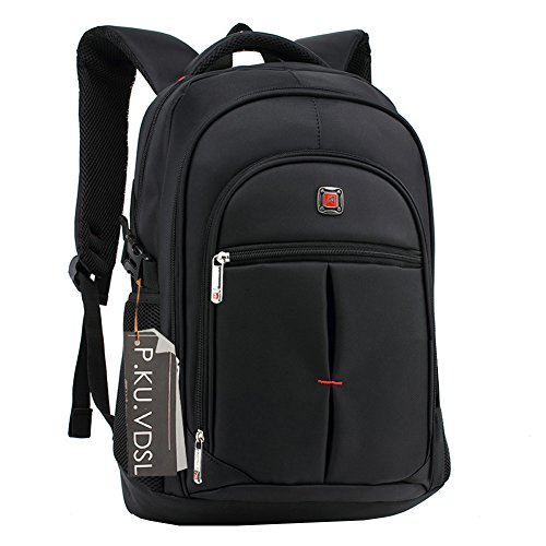 Laptop Backpack, P.KU.VDSL Zaino per laptop fino a 15 pollici, Resistente allo strappo design Daypacks con Multi-scomparto imbottito, Oxford zaino, borse da viaggio, Zaino per computer (A-Nero)