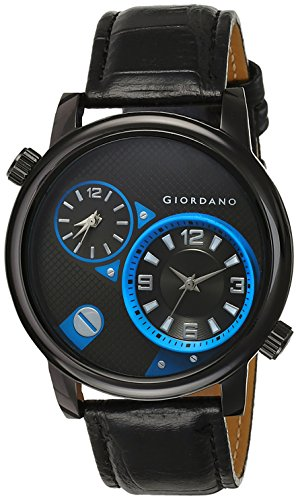 Giordano Analog Black Dial Men's Watch - DTLM60058 (P11786)