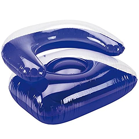 Sessel aufblasbar Poolsessel Lounge Sofa Luftsessel Sitzsack Luftmatratze blau