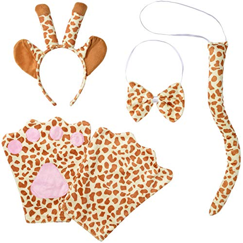 dressforfun 302037 - Kostüm Set Giraffe für Kinder, Haarreif mit Ohren und Hörnern, Handschuhe, Fliege und ()