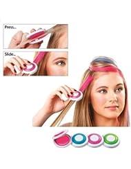 4x hair chalk colorant temporaire non toxique pour cheveux meche de couleur craie bleu rose vert violet