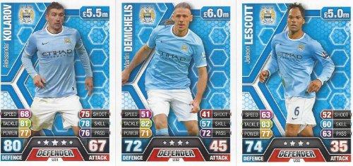 Match Attax Extra 2013/2014 Manchester City Squad Updates 13/14 (U31 - U33)